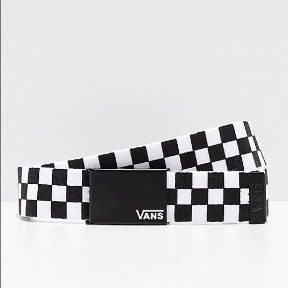 520c8f467f Vans Deppster Black   White Checkered Web Belt. M 5c5cf7199539f7add6b31c81